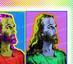 Jesus artwork in pop art