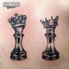 Resultado de imagen para rey y reina en ajedrez tatuaje