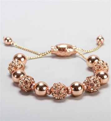 Pre-Order: Rose Gold Rhinestone Fireball Bracelet
