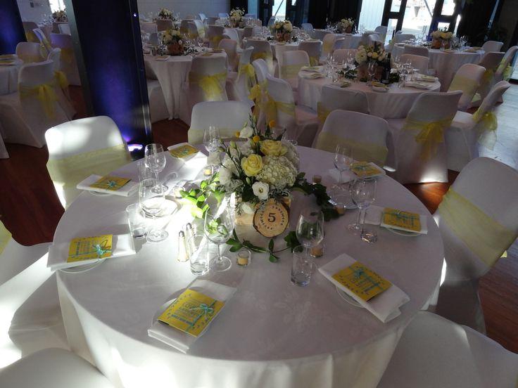wedding, event, table setting, rustic, elegant, yellow, blue, aqua theme