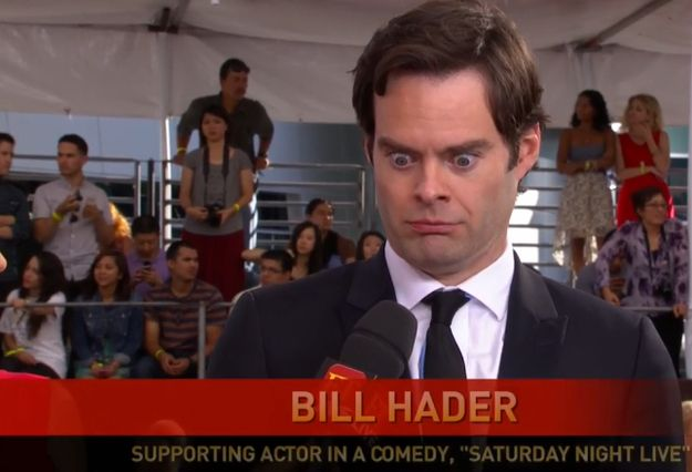 This photo of Bill Hader: | The 19 Best Seen And Unseen Moments From Last Night's Emmy Awards