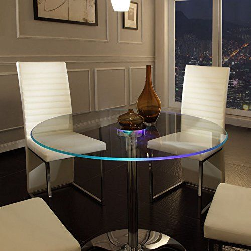 Elysium LED Dining Table. Elysium LED table, is a up to date furniture pieces that includes a tempered glass table Best that transitions. Is a real leading edge furniture so one can certain impress your guest. Table is lifted on a neutral chrome base that furthers the table's up to date inventive design. Set includes: …