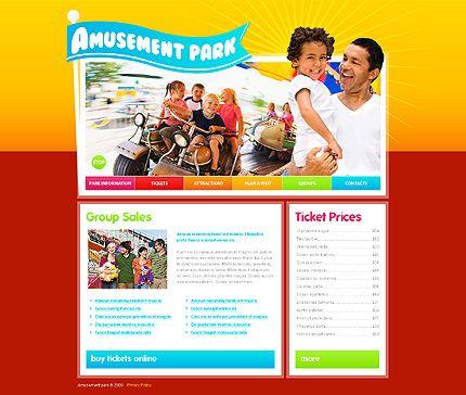 Amusement Park Website Templates by Mercury