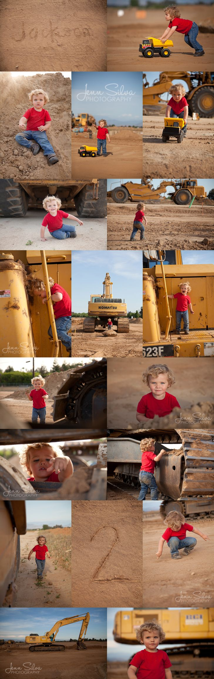 Would be super cute with Daddy's big truck instead of the dump truck :)