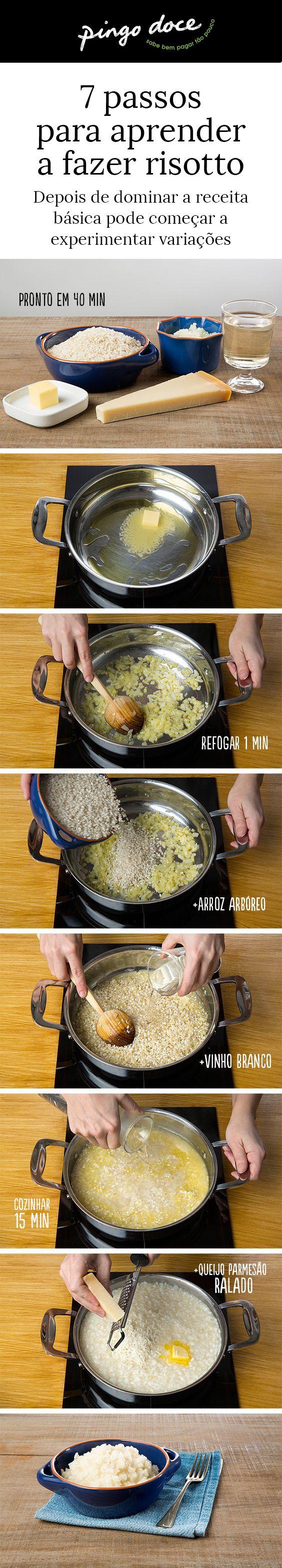 Veja o nosso passo-a-passo e saiba como fazer um risotto básico.