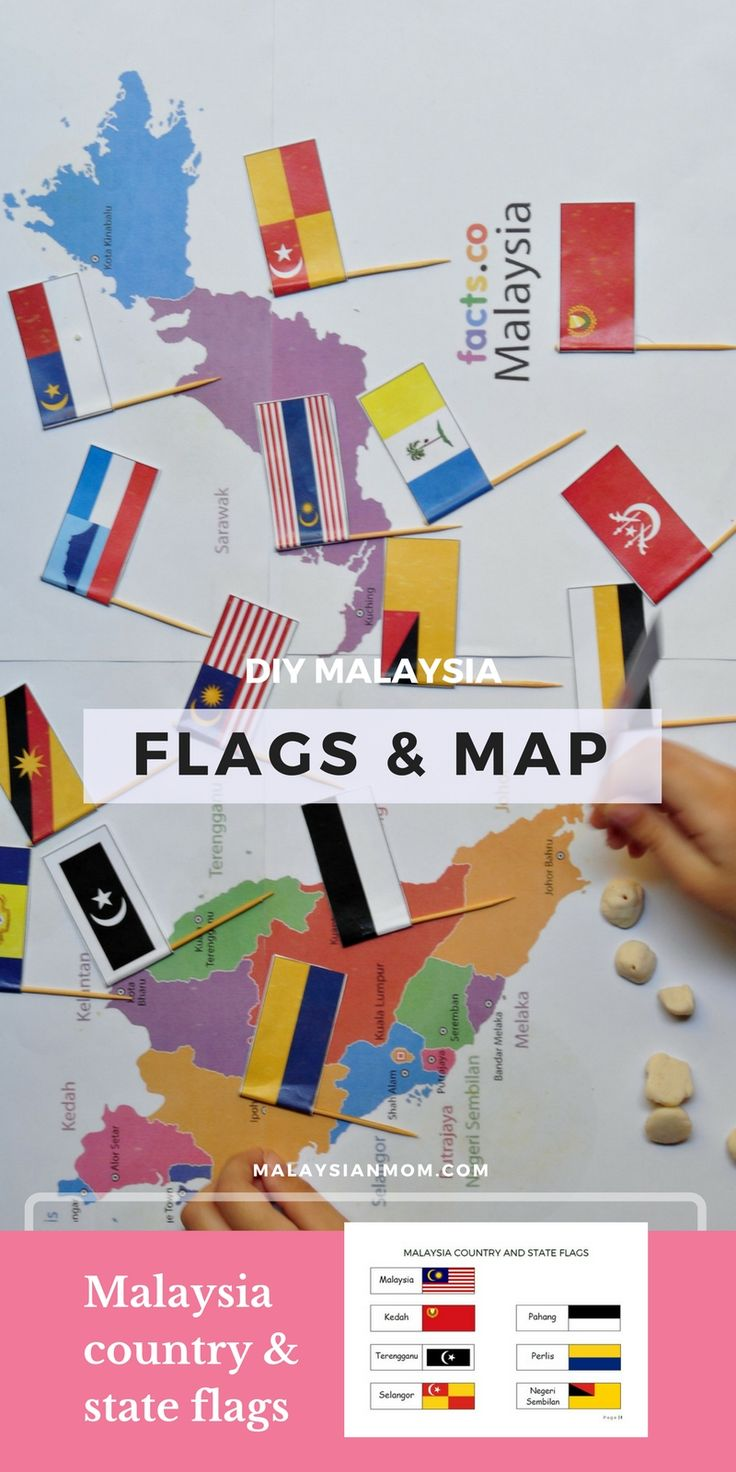 DIY Malaysia Map & Flags Project for Kids | Free Printable from malaysianmom.com |1b