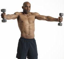 scaption and shrug  shoulder workout exercise gym men
