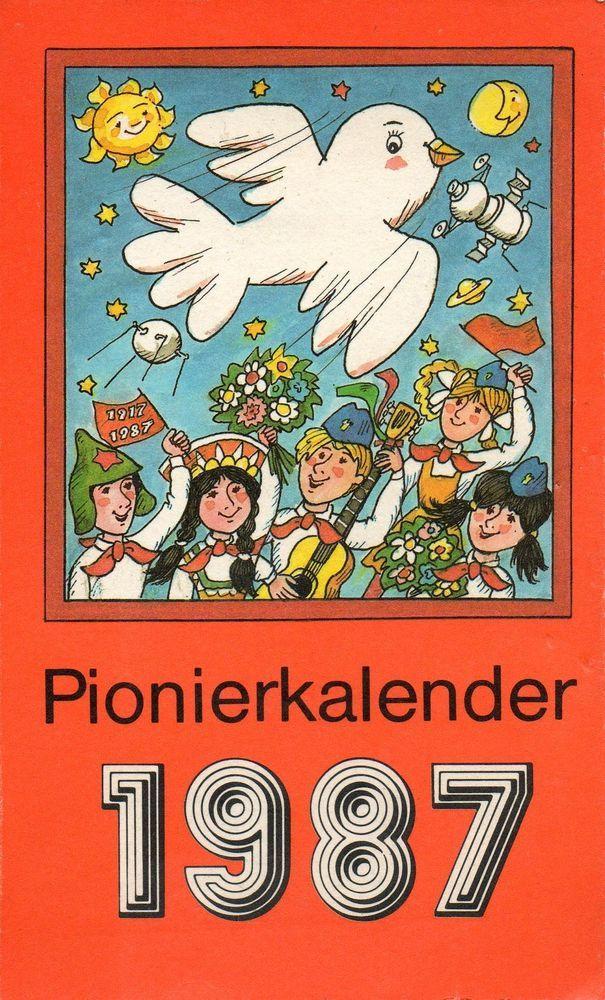 Kalender - Pionierkalender 1987