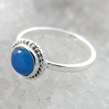 925 Sterling Silver Ring For Women with Blue Stone. Best Gift for Her