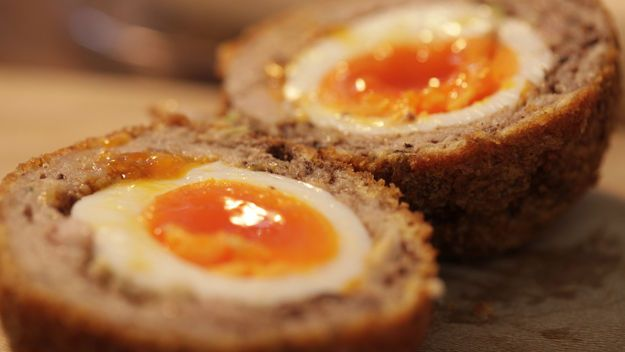 Gordon Ramsey's scotch eggs. Breakfast ideas for shooting days at Remony.