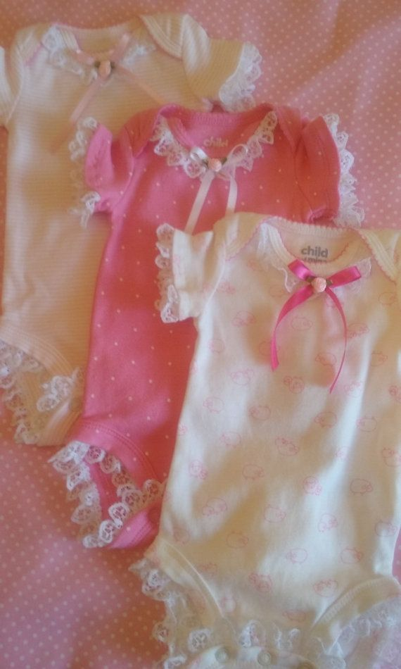 Decorated Onesies Onesies Baby Girl Clothes by KCWCompany3 on Etsy
