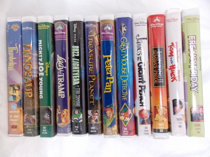 Disney VHS Movies Mix Lot of 12 Lion King Peter Pan Buzz Lightyear Lady & Tramp