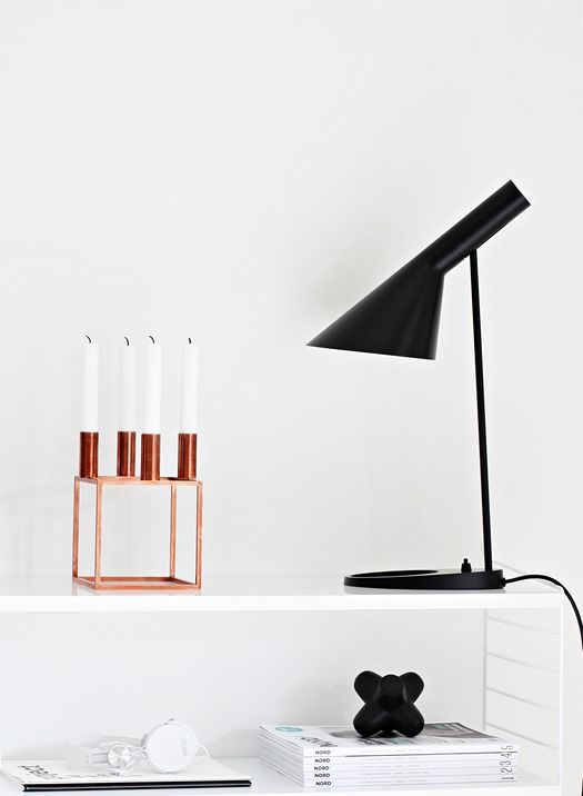 Via Nordic Leaves | By Lassen Copper Kubus | AJ Desk Lamp | White | String | Tom Dixon Jack