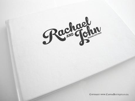 Rachael & John's Contemporary Style Wedding Stationery -Printed Guestbook - Canvas Stationery Boutique