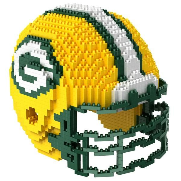 Green Bay Packers NFL 3D BRXLZ Puzzle Helmet Set (SHIPS IN NOVEMBER) $29.99
