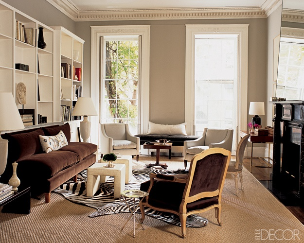 In The Living Room Of Antony Todds New York City Townhouse Sisal Rug Is From ABC Carpet Home