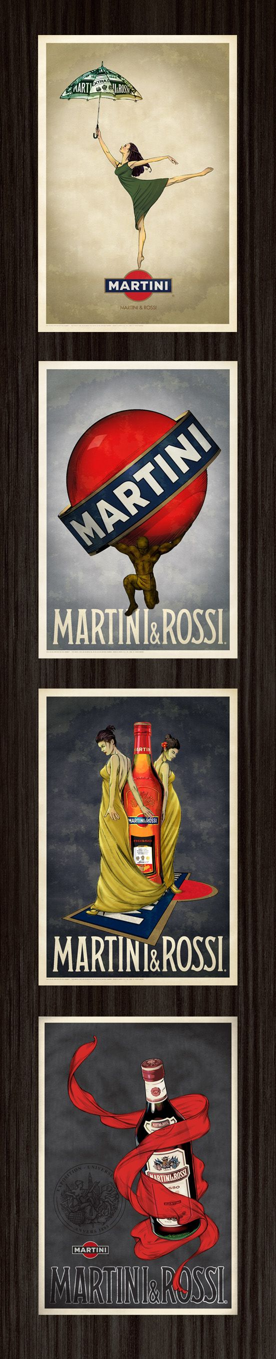 MARTINI & ROSSI PRINTS by brian clever, via Behance