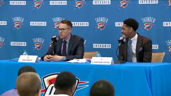 Live Coverage: Thunder introduces first-round draft pick Cameron Payne | News OK