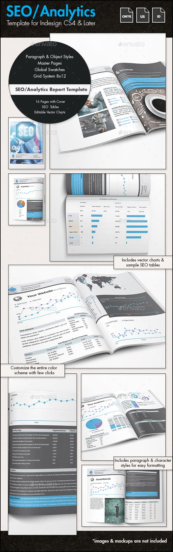 SEO Analytics Report / Proposal Template - US