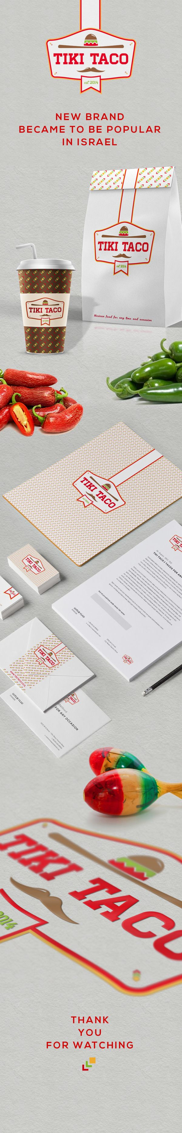 """DEVELOPING LOGO AND BRAND IDENTITY FOR A FAST FOOD STORE """"TIKI TACO"""" IN ISRAEL"""