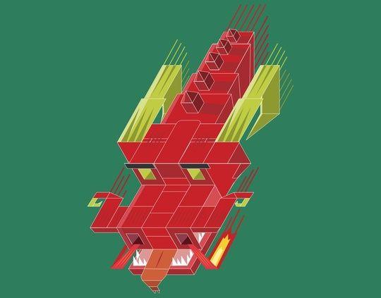 Ancient cube dragon by Danny Villarreal