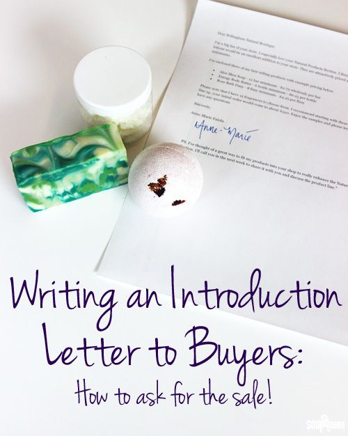 Writing an Introduction Letter to Buyers: Ask For The Sale