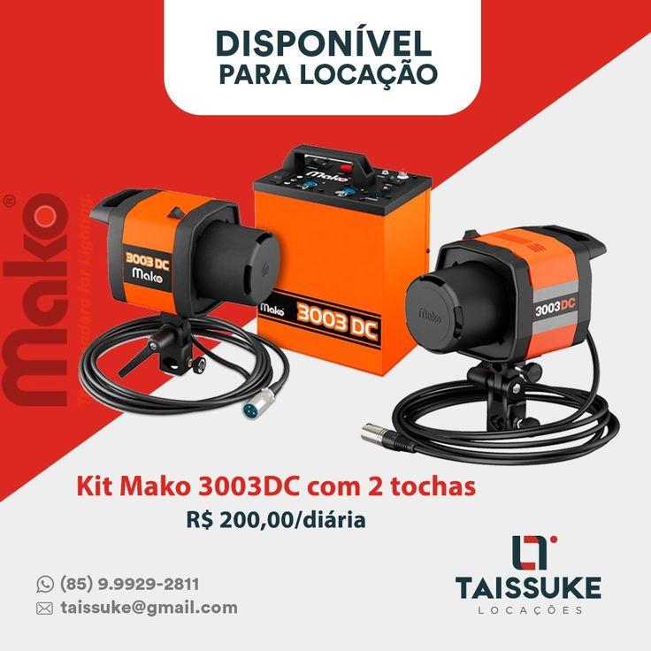 Kit Mako 3003DC com duas tochas Valores das diárias  1 diária R$ 200,00  2 diárias R$ 300,00  3 diárias R$ 400,00   Consultar preços para outros períodos  Aceitamos todos os cartões.  Contato 85.999292811   #tripebernro #benroKH25 #GlidecamXR2000 #Slider #Kessler #Stealth #taissukelocacoes #taissuke #canon #nikon #Fortaleza #ceara #brasil #osmo #djiosmo