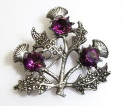 Scottish thistle brooch.....I have one similar to this that belonged to my aunt from Scotland.