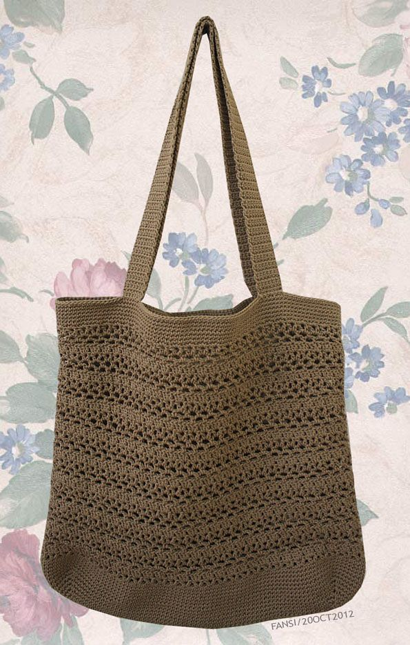 Ravelry: Lacy V Shopping Bag by Cathy Phillips