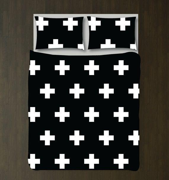 Swiss Cross Bedding Set-Custom Duvet by GatheredNestDesigns