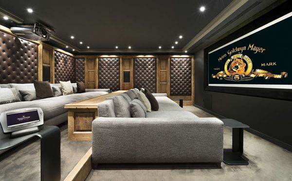 Luxurious Chalet Edelweiss in Courchevel 1850 - over 32000 sq ft of state-of-the-art glamour including this premium private #cinemarooom #richmanpads