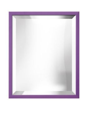 Art.com Purple 17.5-in. W x 21.5-in. H Confetti Purple Framed Mirror - Online Only