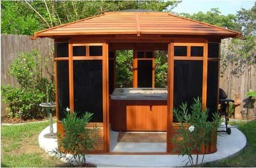 Best 25 Hot Tub Pergola Ideas On Pinterest Deck Canopy Deck With Pergola And Pergola With Shade