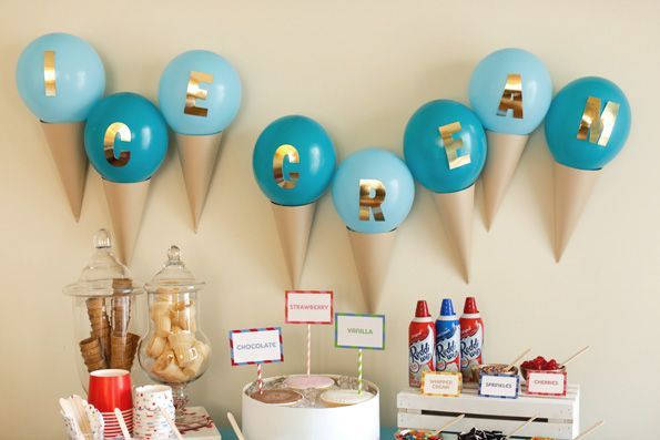 Get the how-to for these DIY Ice Cream balloons when you visit EviteGatherings!