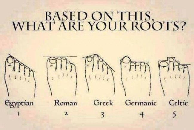 A study claims you can tell your heritage from the shape of your feet, so take a look and discover where your ancestors originally came from.
