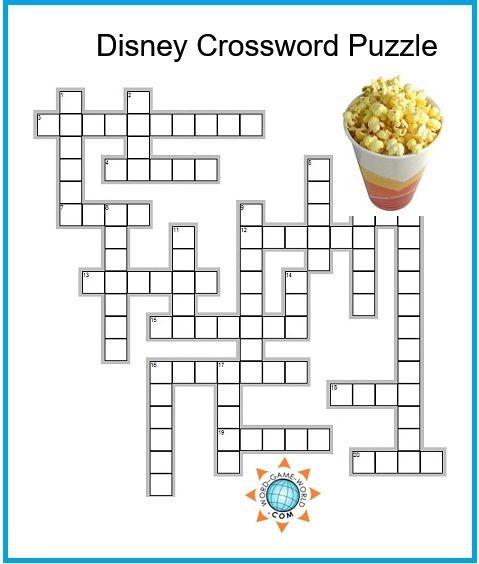 picture regarding Disney Crossword Puzzles Printable identified as Disney Crossword Puzzles Small children Printable Crossword Puzzles