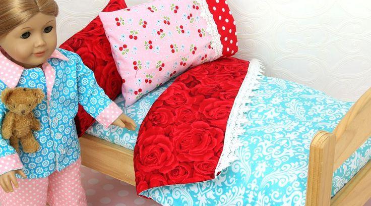 Doll Blanket Pattern – FREE Doll Bedding Tutorial