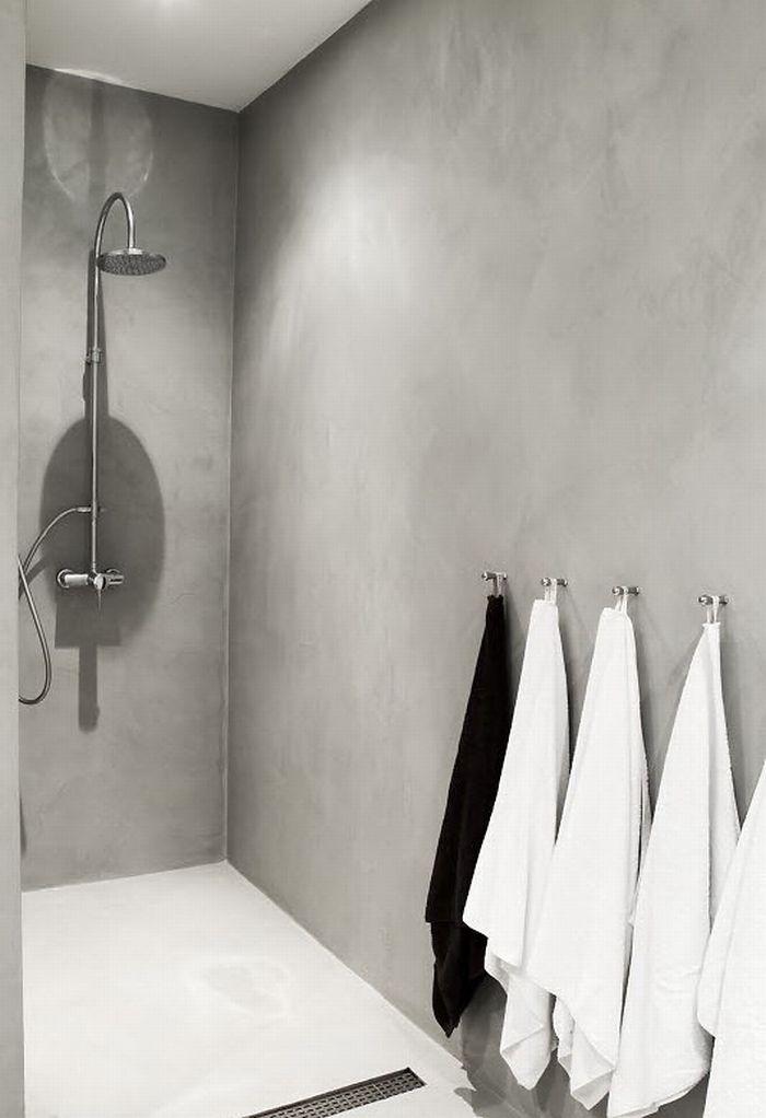 Concrete bathroom - would prefer big tiles