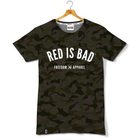 Koszulka patriotyczna Red is Bad - Freedom Apparel - CAMO - odzież patriotyczna, koszulki męskie Red is Bad