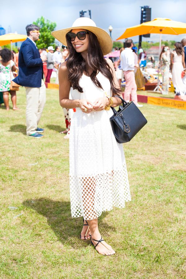 All white is summer dressing perfected. Kat of blog With Love from Kat in the Tibi Sonoran eyelet skirt.