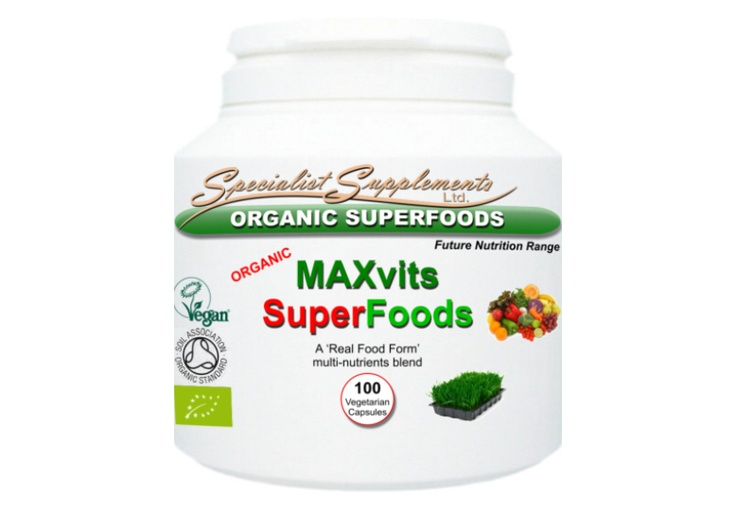 MAXvits SuperFoods (£15.99): Organic multivitamin and multi-nutrients blend of 14 superfoods and superfoods, including alfalfa, wheatgrass, baobab fruit, barley grass, beetroot, bilberry fruit, kelp, green tea, spinach, spirulina, tumeric and other alkalising foods. Support daily nutrient intake, natural detox and an alkaline pH with this organic food form supplement.