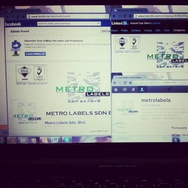 follow my company's social site =) look up for Metro Labels. We are on Facebook, Twitter