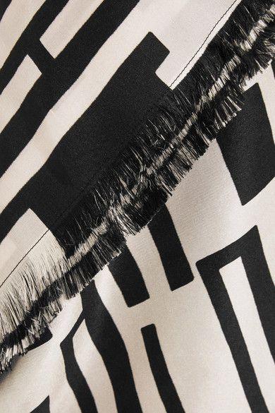 Etro - Printed Silk Maxi Dress - Black - IT40