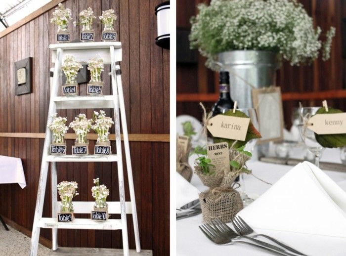 wedding table seating plan and herb favours lovestruck weddings and events