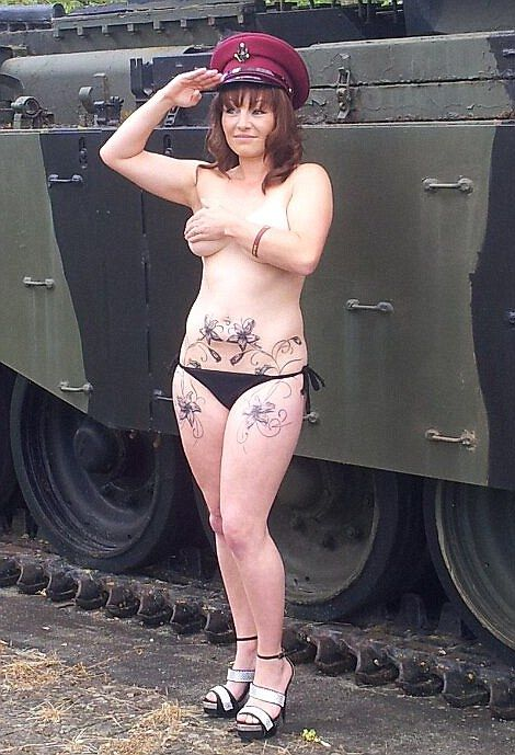 Military personnel have been showing their support for Prince Harry by posting pictures of themsleves performing nude salutes on the facebook site