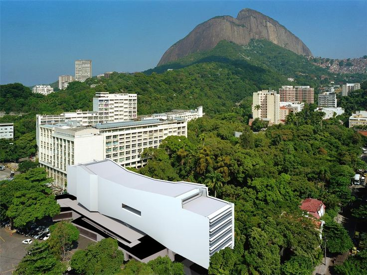 Illustrating the positioning of the Mediatheque on the PUC-Rio campus.