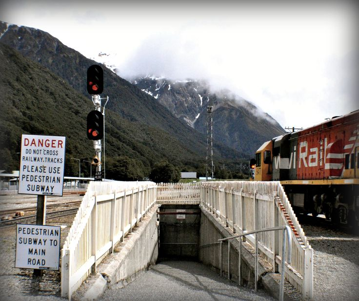 Victor Lee sent in this pic from a stop during his TranzAlpine Journey #train #signs