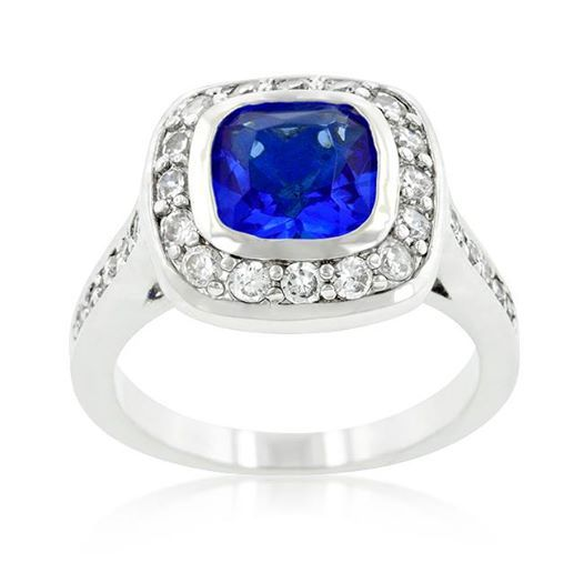 Rhodium with 1.61tcw Sapphire and Diamond CZ