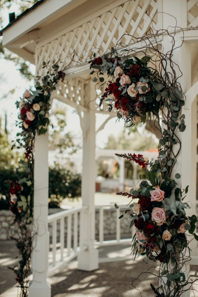 Gazebo Flowers Vintage California Winter Wedding Wedding