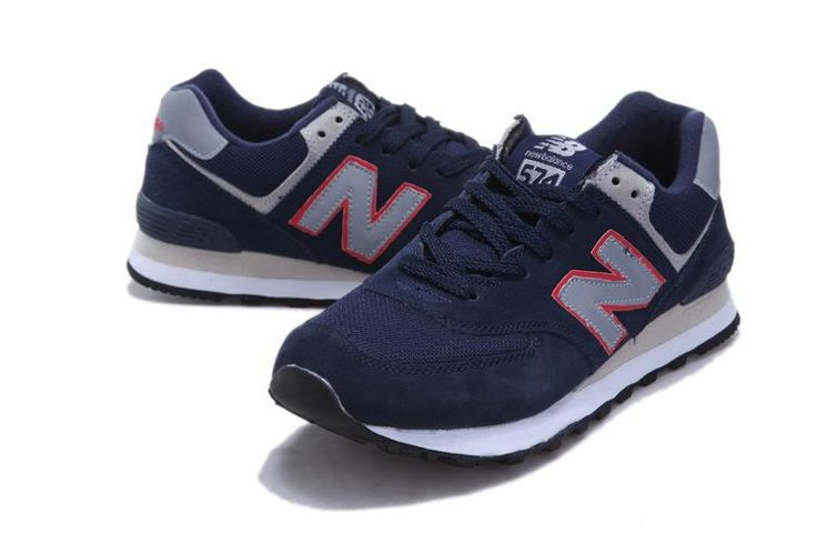 New Balance NB ML574NR deep Blue Red edge Grey For Men shoes | New Balance  574 Mens | Pinterest